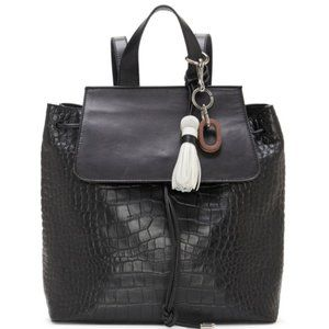Vince Camuto Croc Embossed Leather Backpack
